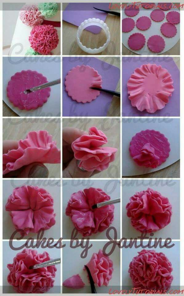 Pin by Tori Malaney on Cake baking | Fondant flower ...