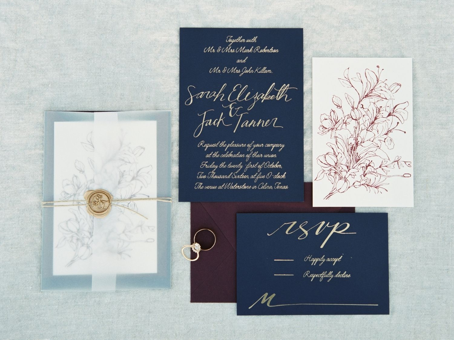 Classic Burgundy + Navy Fall Wedding (With images) Fall