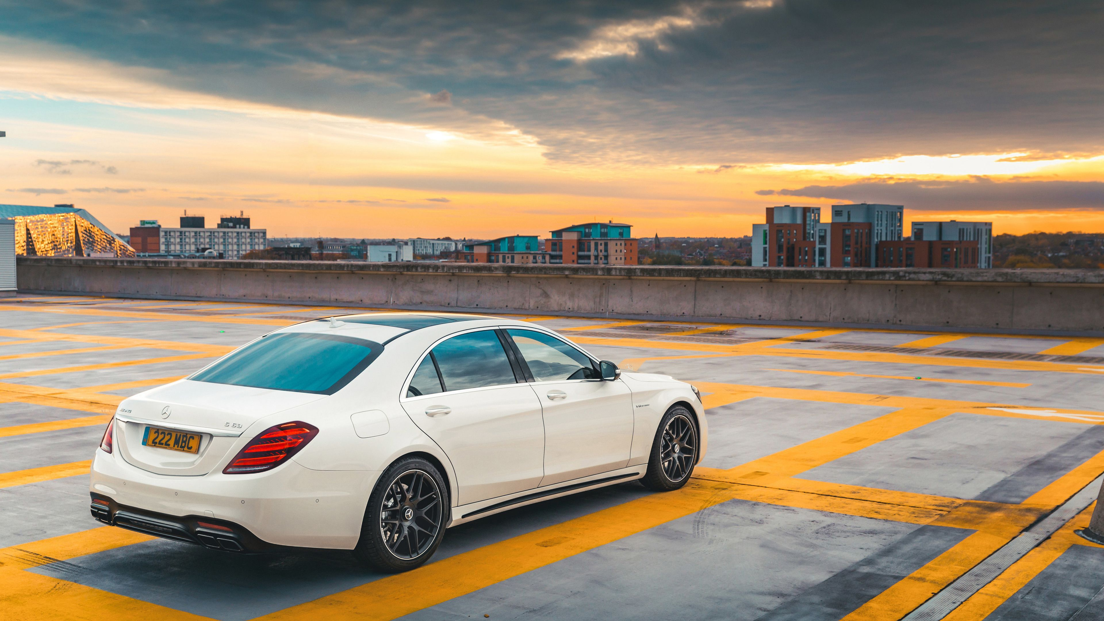 2018 Mercedes Amg S63 Back View Mercedes Wallpapers