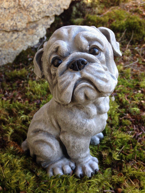 Bulldog Garden Statue, English Bulldog Sculpture, American Bulldog Figure,  Bulldog Memorial, Painted
