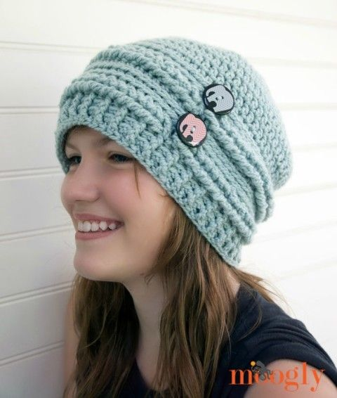 Ups And Downs Slouchy Beanie Free Crochet Pattern On Mooglyblog