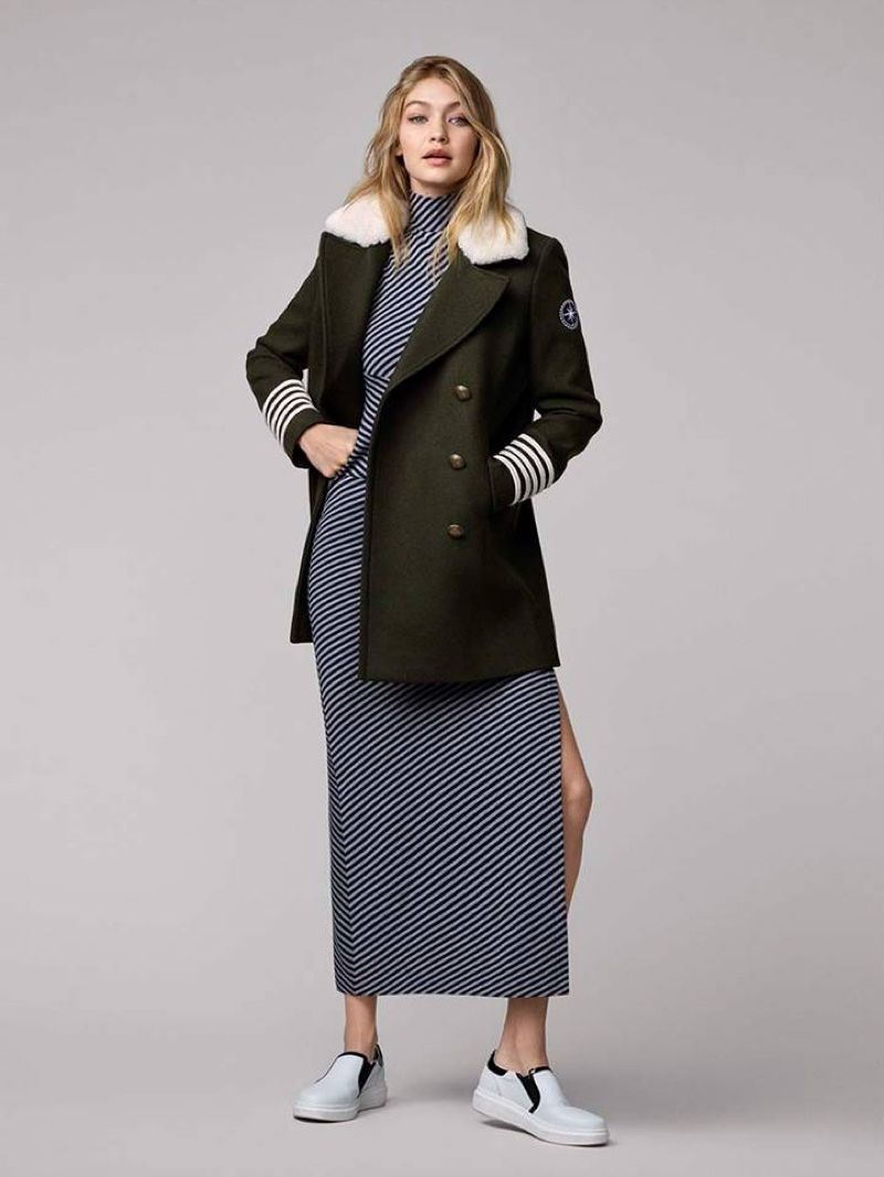 7206bfcaa Gigi Hadid x Tommy Hilfiger Collection  Military Peacoat