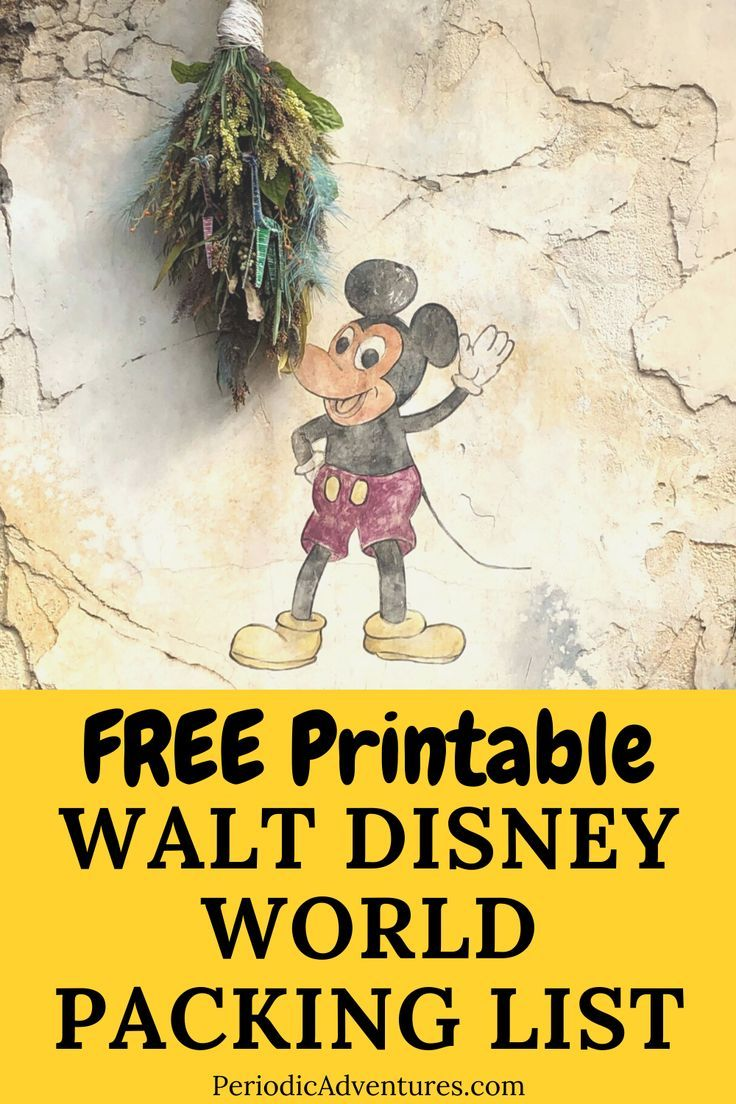 Free Printable Walt Disney World Packing List – Periodic Adventures