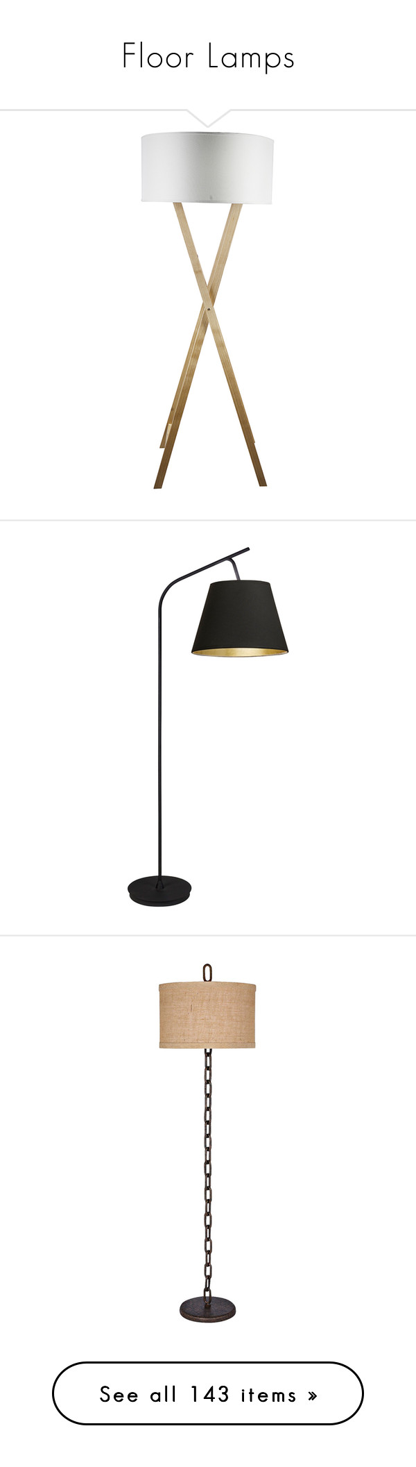 Floor lamps by sallysimpson on polyvore featuring home lighting