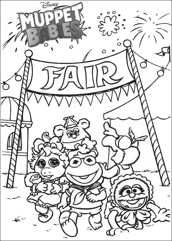 Fantastic Muppet Babies Disney Coloring Pages Baby Coloring Pages Disney Coloring Pages Toy Story Coloring Pages