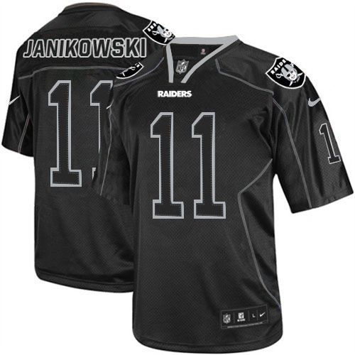 719b8975441 shop the official Raiders store for a Men s Nike Oakland Raiders  11  Sebastian Janikowski Game Lights Out Black Jersey in the latest styles  available online ...