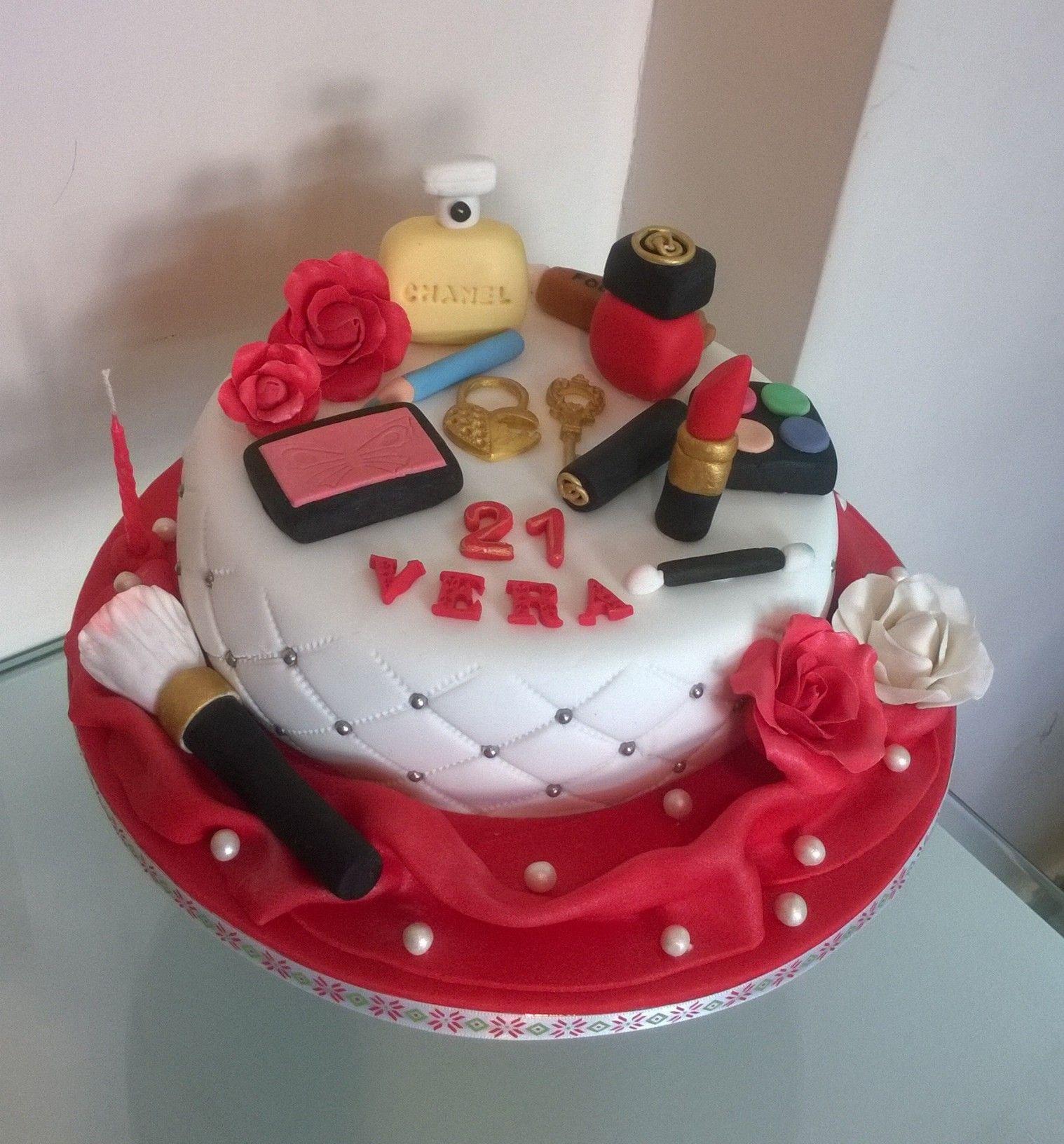 Vera's 21st Birthday Makeup Cake 28.1.17 For 15.1.17 2.8kg