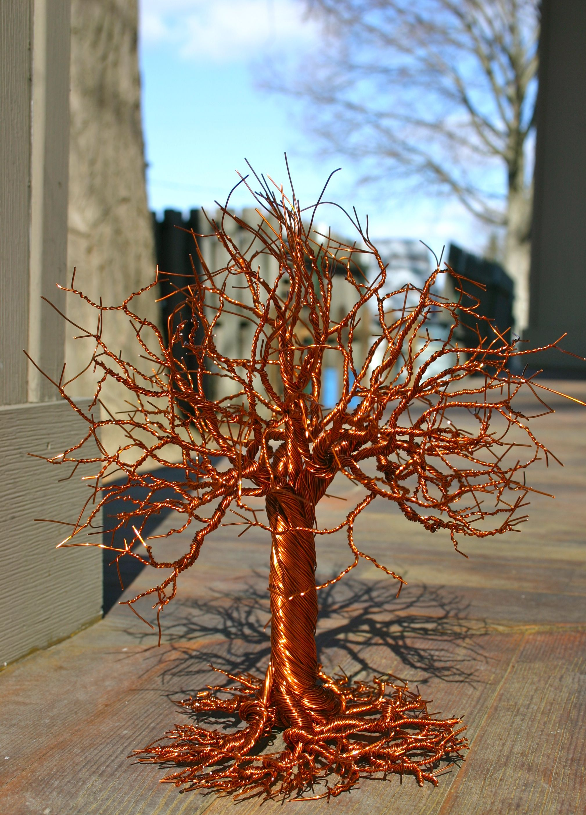 Small 8 Quot Standing Copper Wire Tree Art Www Facebook Com