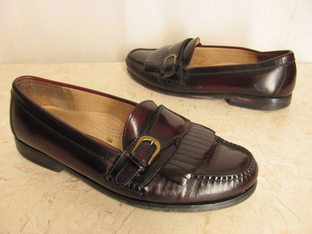 759622f4d5d Cole Haan Shoes 10D Cordovan Leather Monk Strap Kiltie Loafers Slip On Mens…