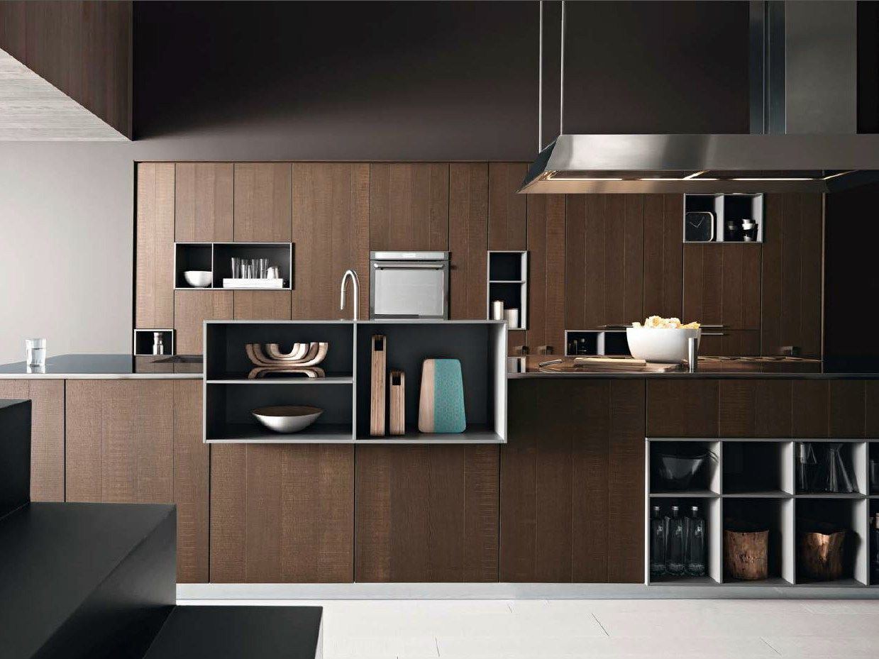 Fitted kitchen with island KALEA 01 by Cesar Arredamenti