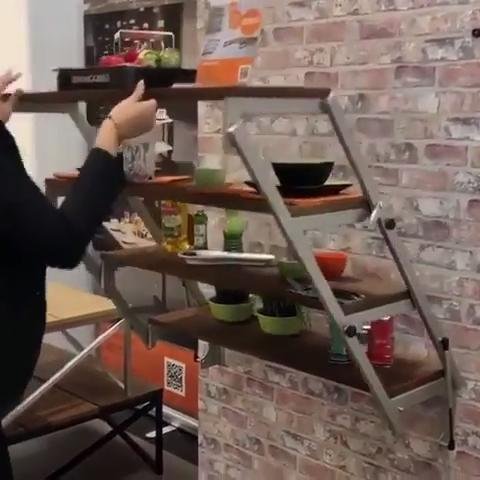 Swing shelf & dining table