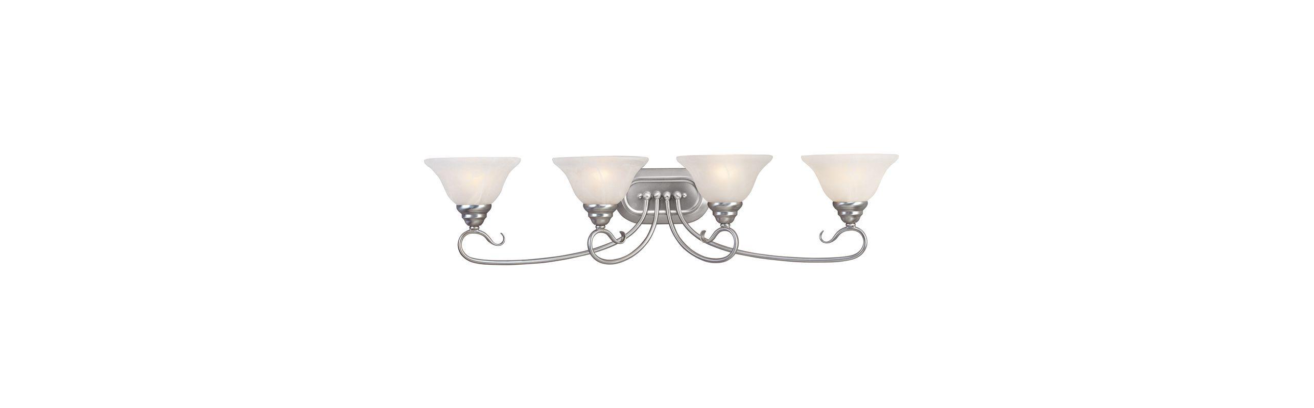 Photo of Livex Lighting 6104-91 Brushed Nickel Coronado 4 Light Bathroom Vanity Light