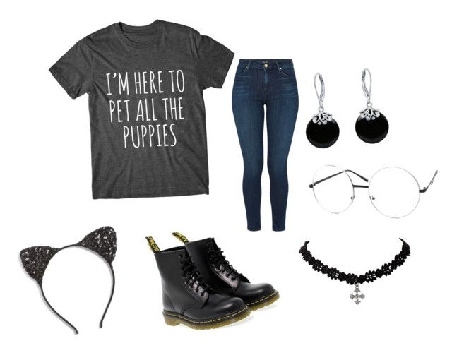 """""""I love puppies!!!"""" by thatweirdgirl1999 ❤ liked on Polyvore featuring J Brand, Dr. Martens, Cara and Bling Jewelry"""