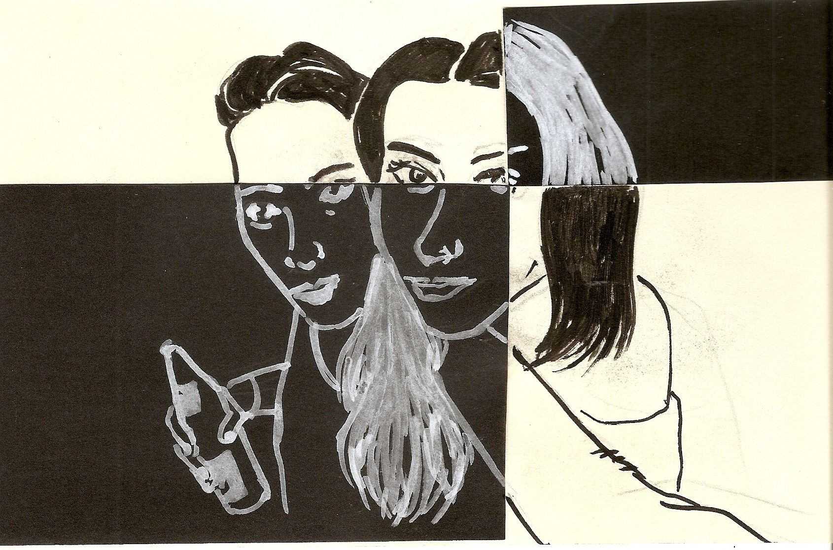 black and white, by Elena Crash