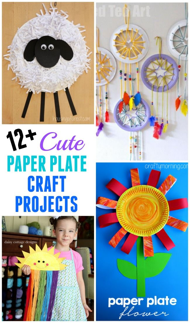 Over 12 cute paper plate craft projects for you to make with your kids or for  sc 1 st  Pinterest & 12+ Paper Plate Craft Projects | Paper plate crafts School and Craft