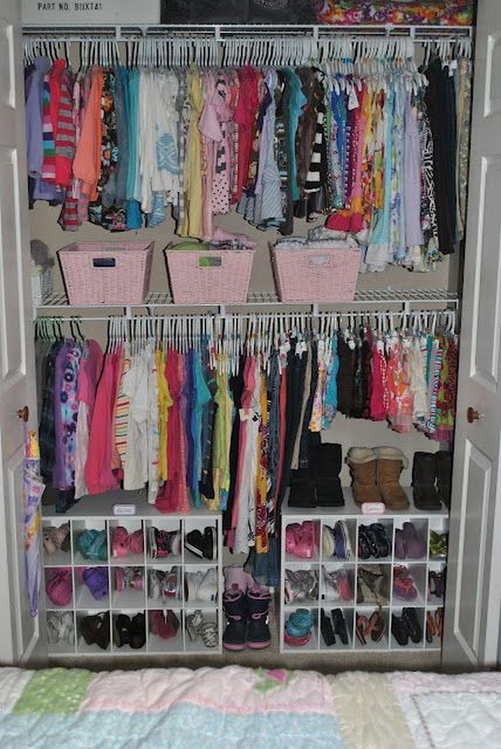 Totally Inspiring Kids Closet Organization Ideas DIY