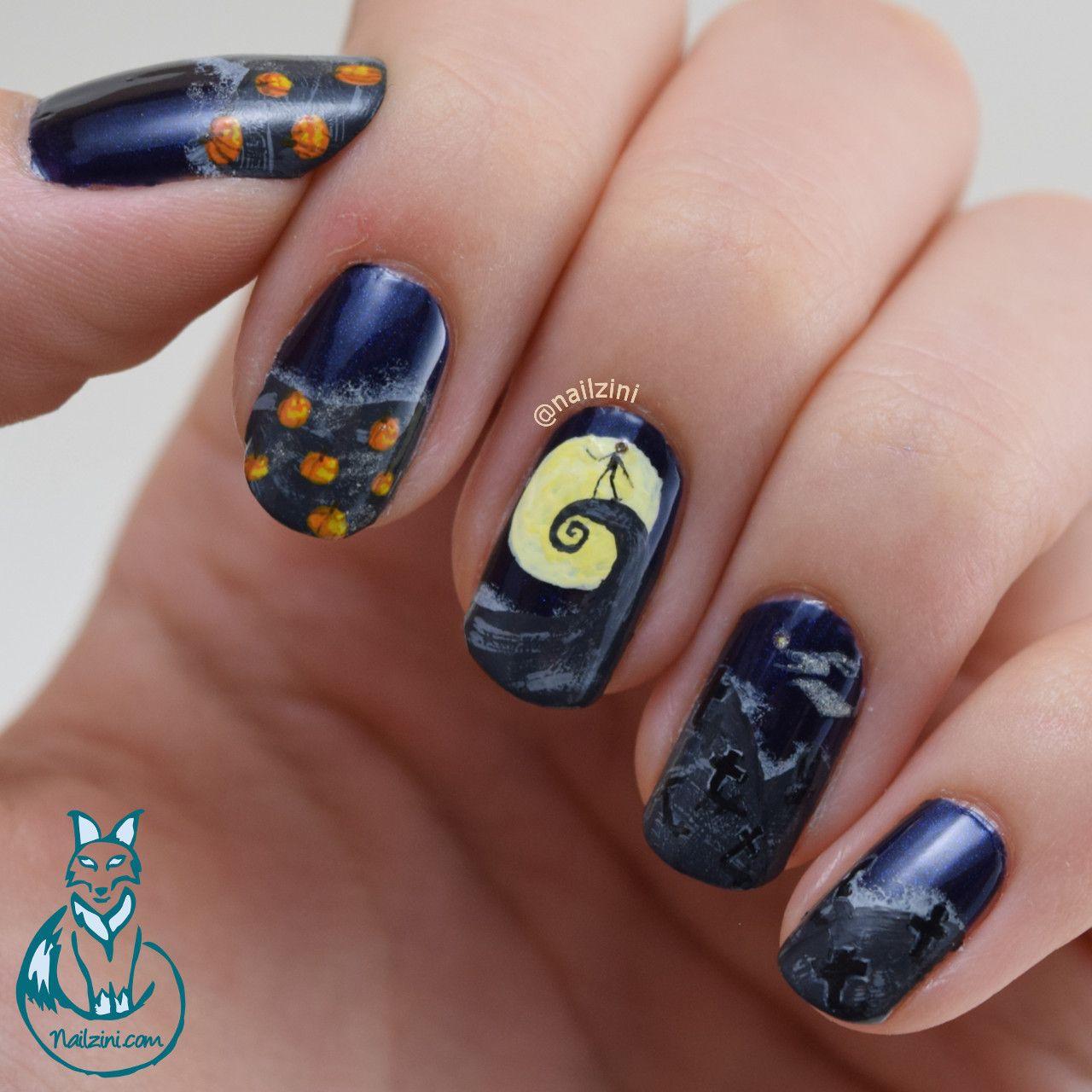 Nailzini: A Nail Art Blog: Nightmare Before Christmas Nail Art ...
