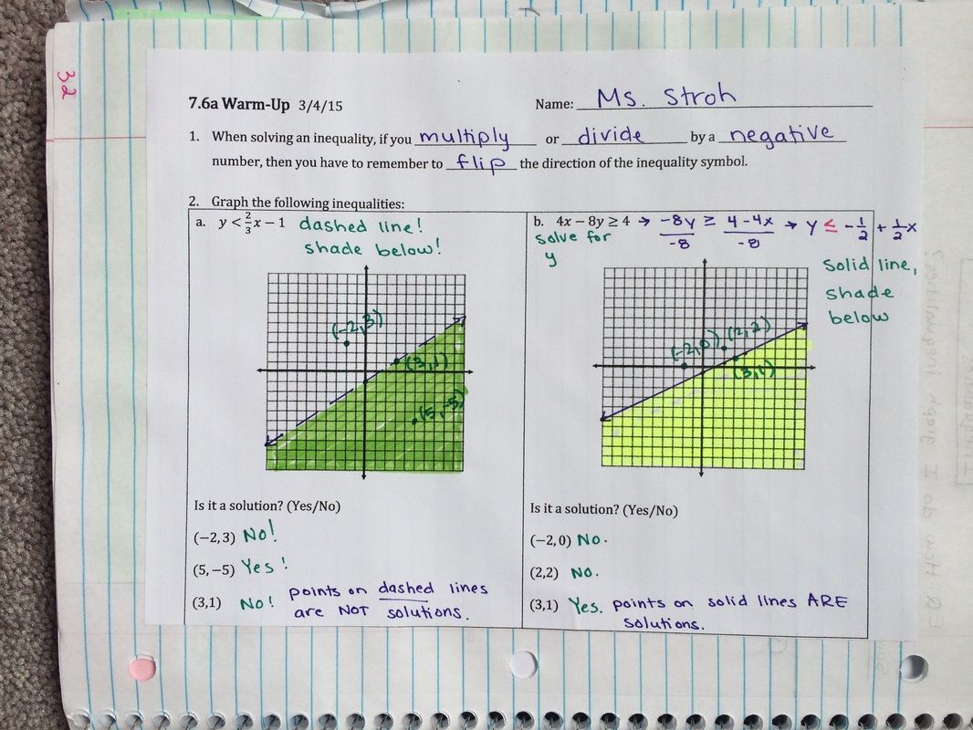 Daily Notebook Pages Algebra Interactive Notebooks Algebra 1