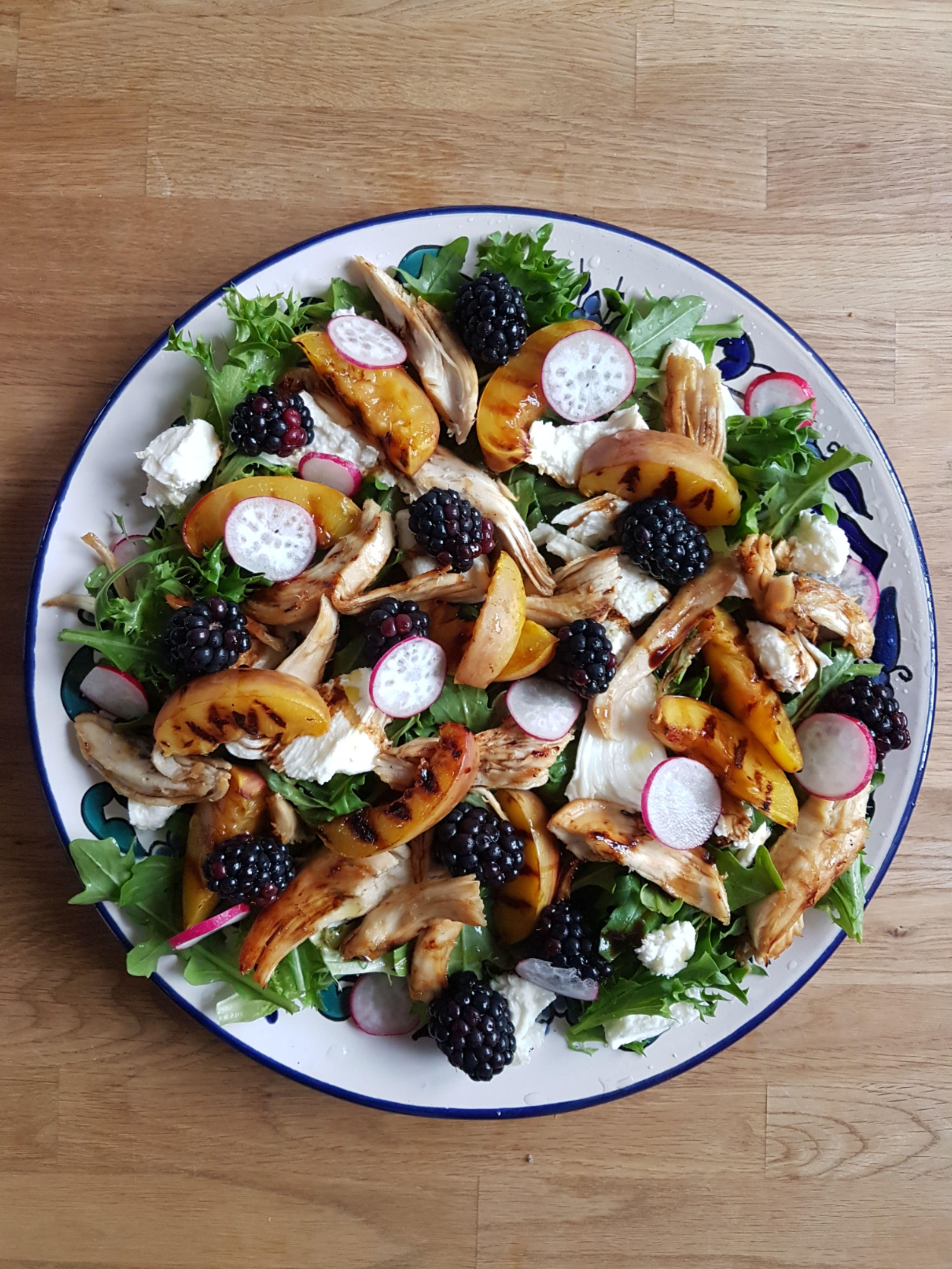 Chicken nectarine and blackberry salad recipe in 2020