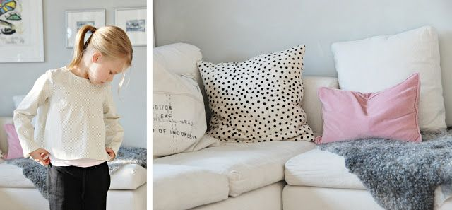 Mekkotehdas. that polka dotted pillow!