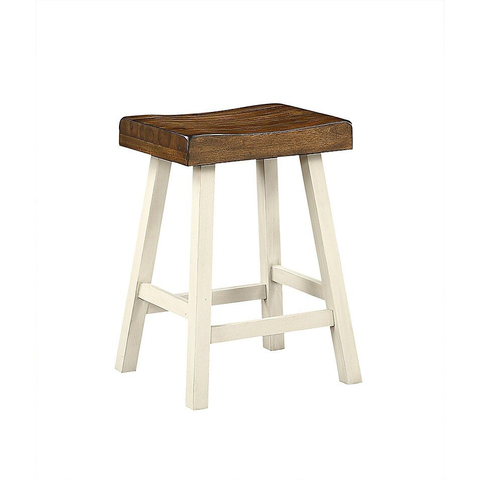 Bee Willow Home 24 Saddle Bar Stool In White In 2020 Saddle