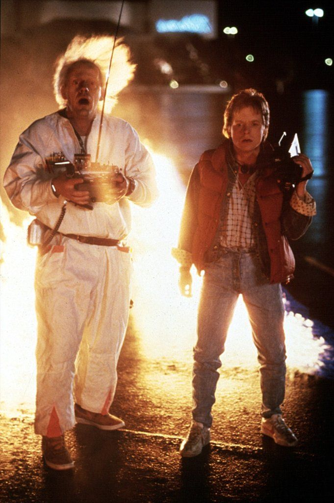 Marty and Doc From Back to the Future