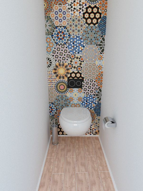 print #wc #toilet #behang #wallpaper super leuk idee ...