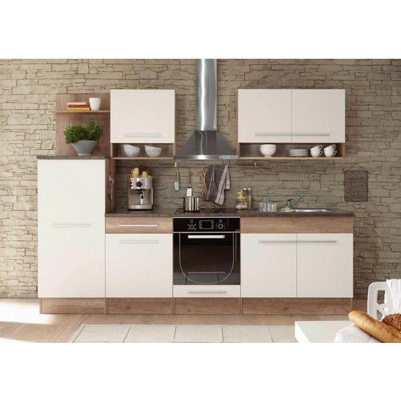 Küchenblock in Weiß - schafft ein elegantes Ambiente - küchenzeile 220 cm mit elektrogeräten