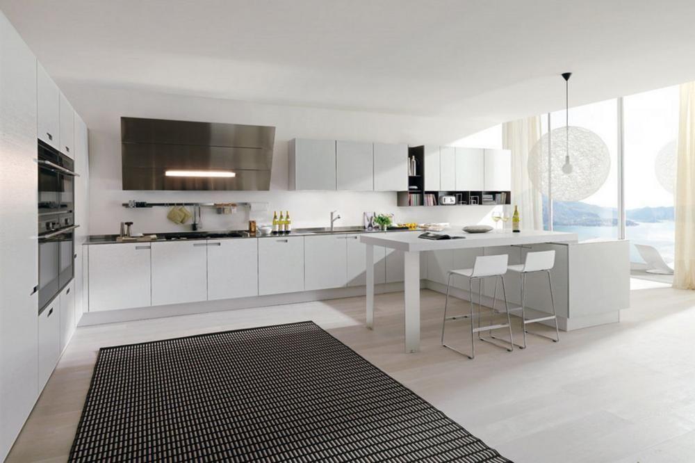 Cuisines blanches modernes intérieur de cuisine blanc conception de la cuisine contemporaine cuisine moderne idées de cuisine petites cuisines