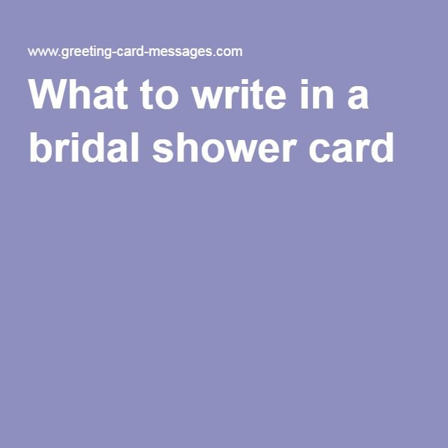 what to write in a bridal shower card sayings With what to write in a wedding shower card