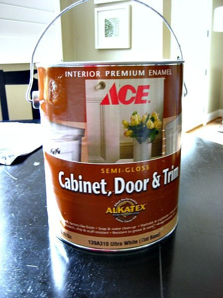 Ace Hardware Cabinet Door And Trim Alkyd Enamel Self Levels Like Oil Based Paint But Easy Cleanup Of A Water B With Images Door And Trim Paint Painting Trim Ace Hardware