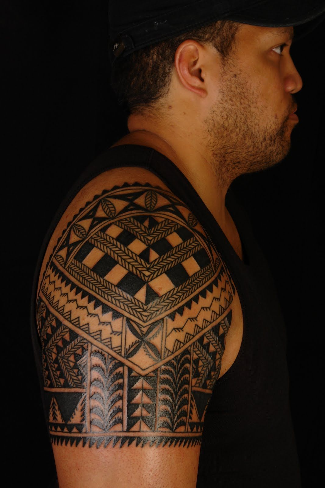 Maori Shoulder Tattoo Meanings: Niuean Shoulder Tattoo On Marlon