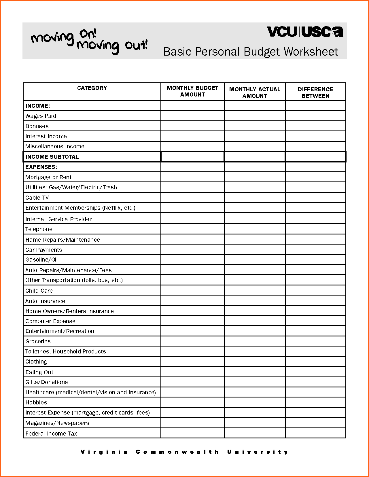 worksheet Free Household Budget Worksheet simple budget template letter household free home design idea free