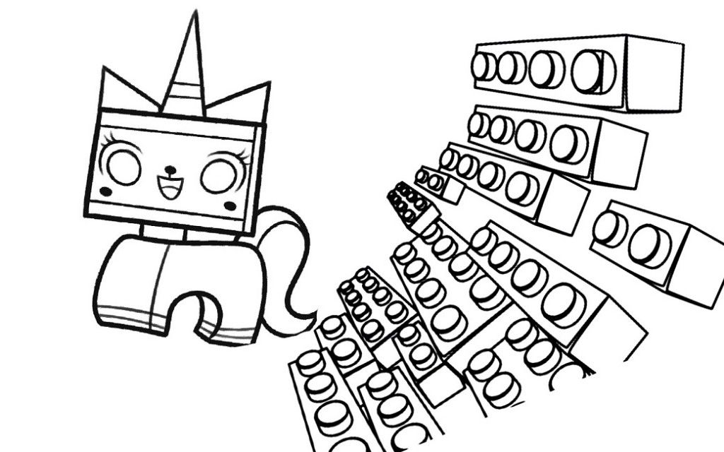 Lego Bricks Coloring Pages