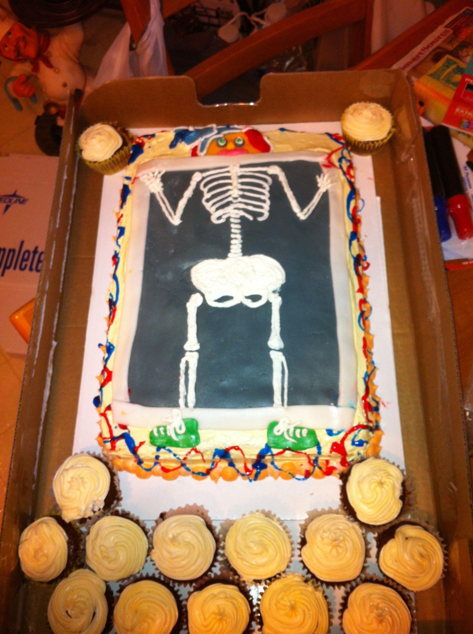 Bones skeleton cake cake birthday cake desserts