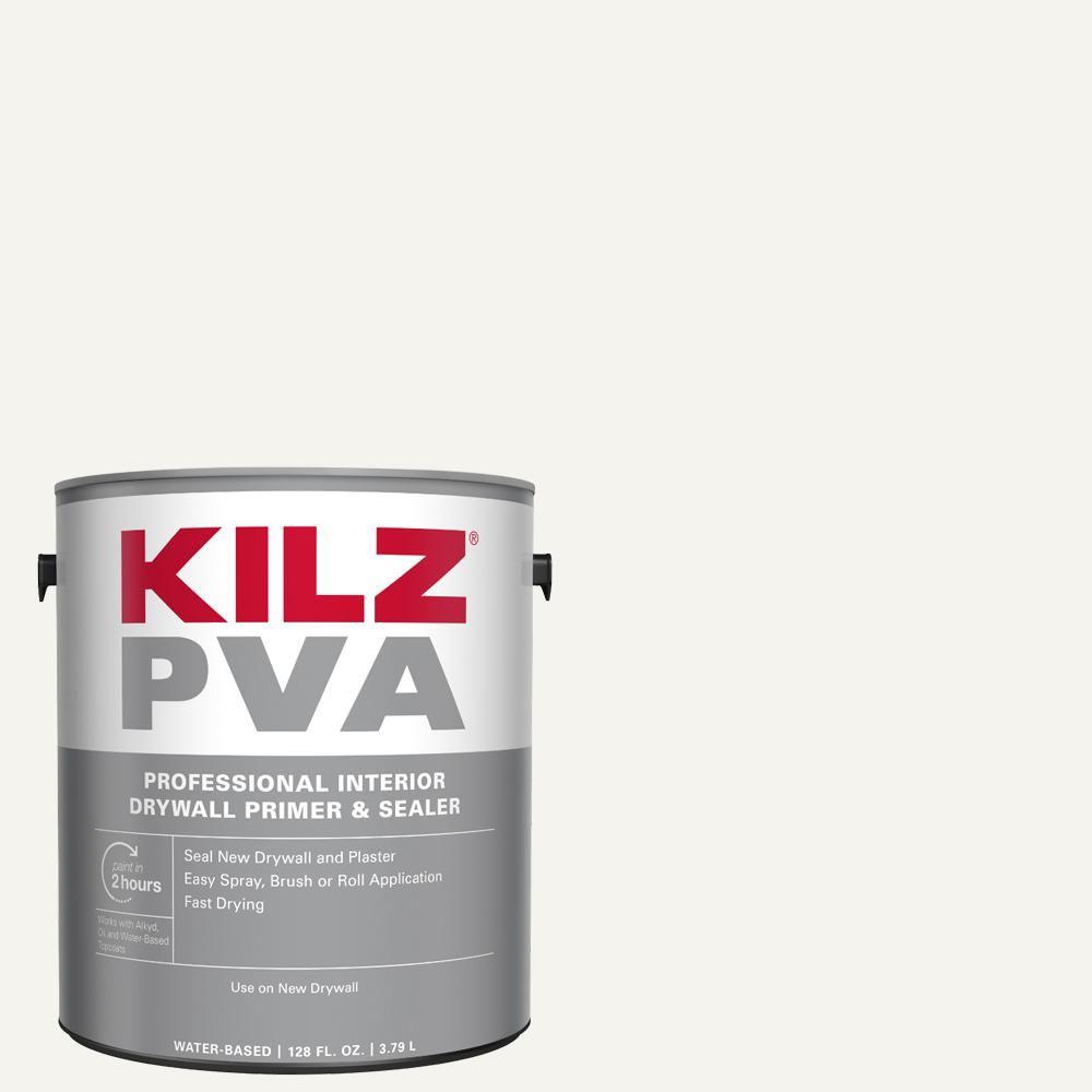 Kilz Pva 1 Gal White Interior Drywall Primer Px01001 The Home Depot In 2020 Interior Primer Primer Sealer Wall Primer