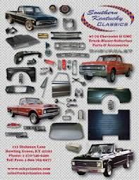 Southern Kentucky Classics 67 72 Chevy Truck Parts Catalog Www Sokyclassics Com Parts For Pick Up Blazer Ji Classic Chevy Trucks Chevy Trucks 72 Chevy Truck