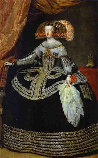 Queen Mariana, ca. 1653  (Diego Velazquez) (1599-1660)   Museo Nacional del Prado, Madrid
