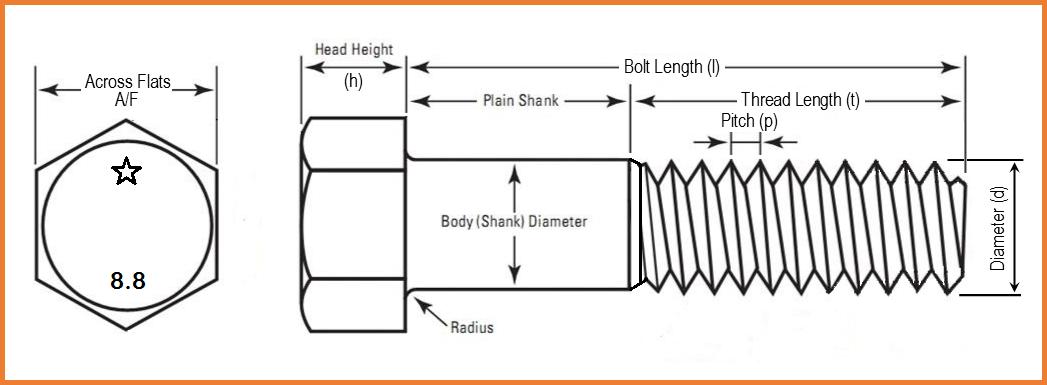 Afbeeldingsresultaat Voor M8 Bolt Design Dimension