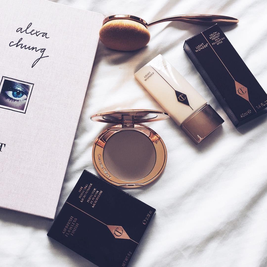 Charlotter Tilbury, foundation, powder, airbrush, makeup brush, alexa chung, book