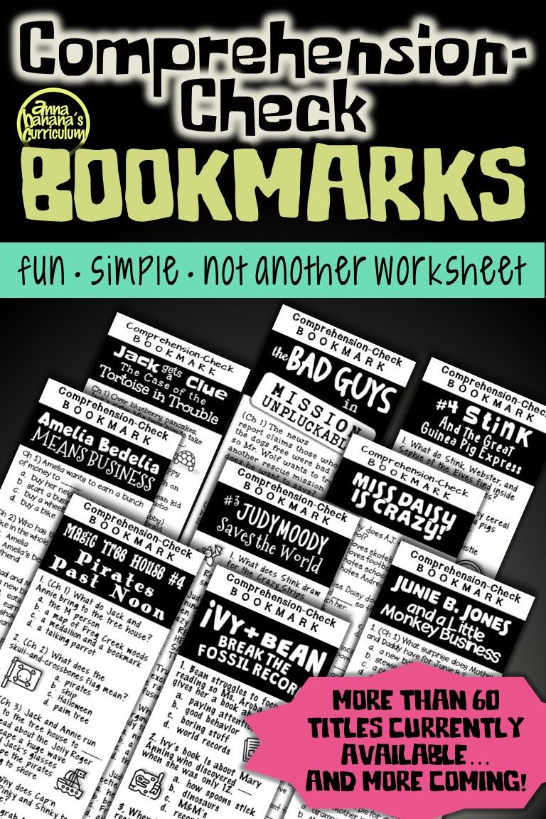 Comprehension Check Bookmarks Chapter By Chapter Reading Guides Curriculum Teachers Pay Teachers Seller Elementary Reading [ 1152 x 768 Pixel ]