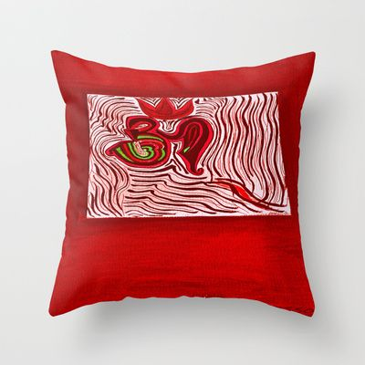 om Throw Pillow by Loosso - $20.00