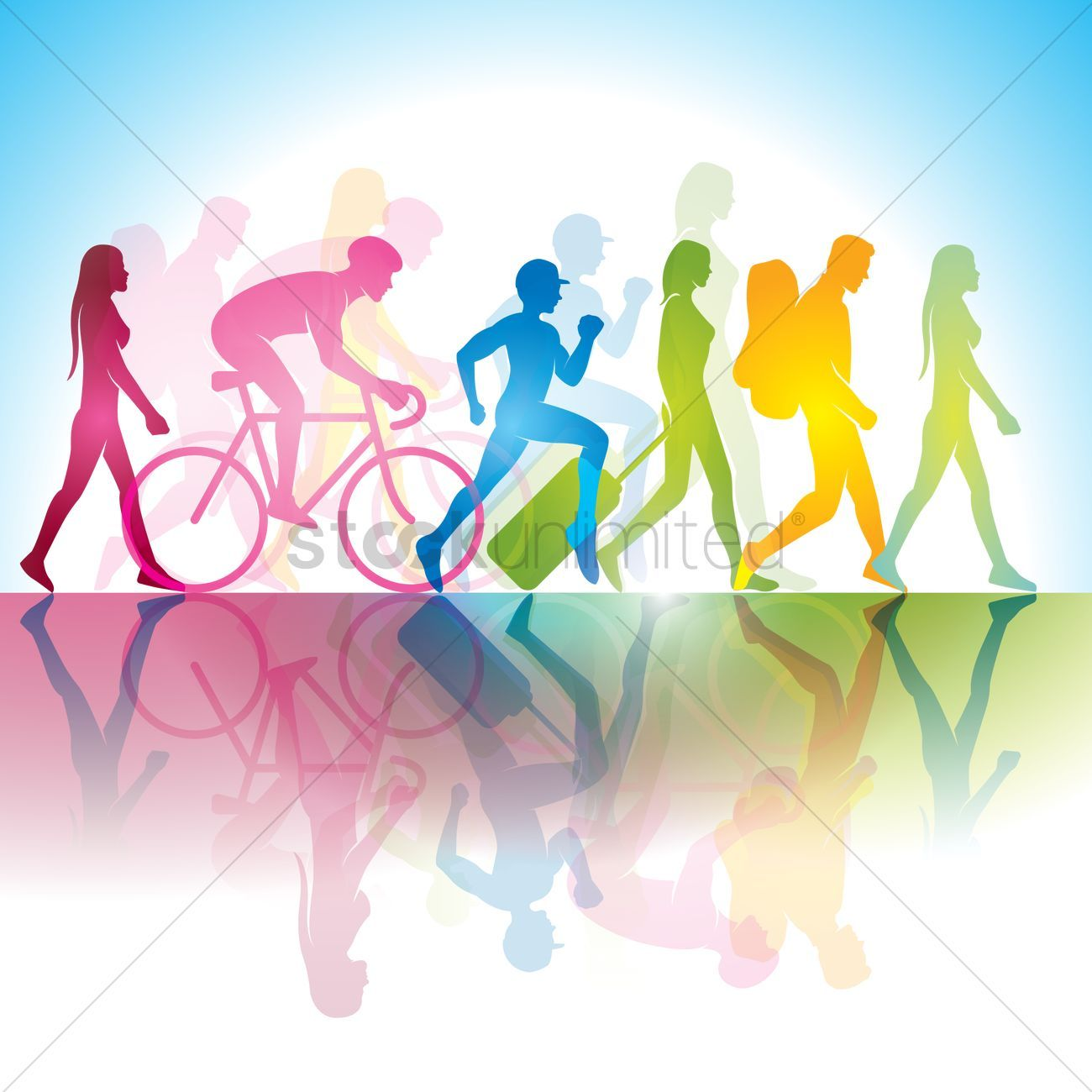 Various modern people vector illustration