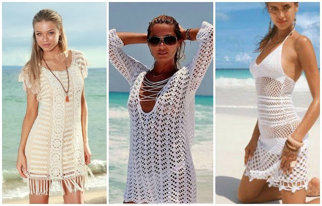 Crochet Swimsuit Coverup Patterns Being Crafty Pinterest Beach Amazing Crochet Swimsuit Cover Up Pattern
