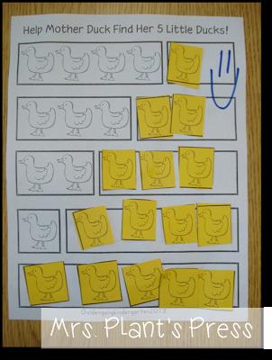 mrs plant 39 s press 5 senses and the 5 little ducks math part part whole pinterest math. Black Bedroom Furniture Sets. Home Design Ideas