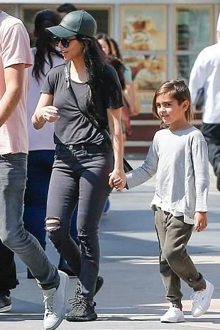 Adidas · Kourtney Kardashian wearing Givenchy Rigid Mini Pandora Bag, Adidas  x Kanye West Yeezy 350 Boost