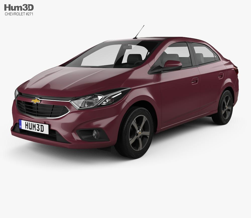 3d Model Of Chevrolet Prisma Ltz 2016 Chevrolet 3d Model Car 3d Model