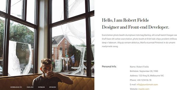 Ami - Creative Resume / CV / Portfolio - Portfolio Creative Resume