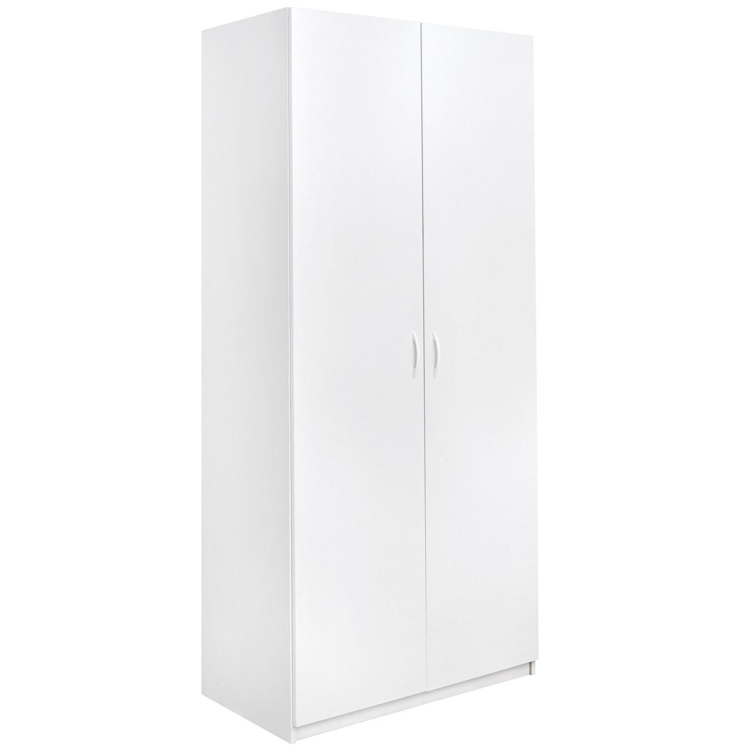 Closetmaid 36 Inch X 80 Inch 2 Door Storage Cabinet With Images White Double Wardrobe Double Wardrobe Tall Cabinet Storage