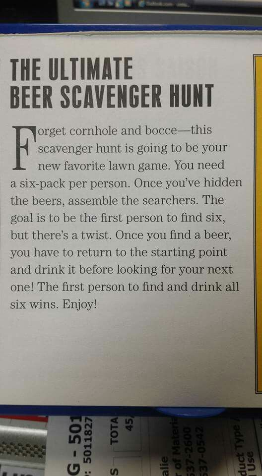 The Ultimate Beer Scavenger Hunt Birthday Games For
